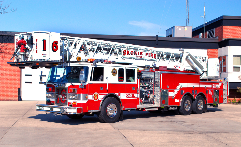 Skokie Fire Department Tower Ladder 16