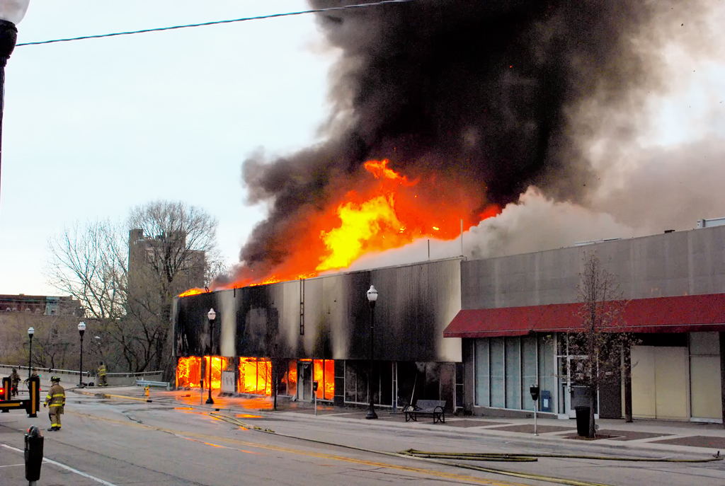 Waukegan Fire Department structure fire Genesse Salvation Army