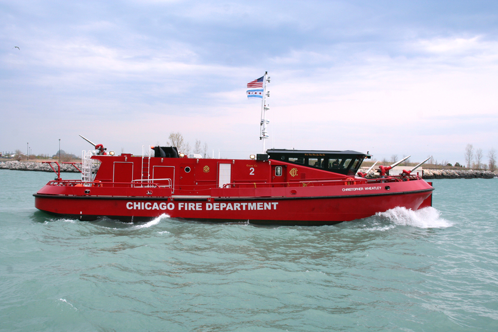 Chicago Fire Department fire boat Engine 2 Christopher Wheatley