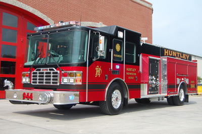 Huntley Fire District Ferrara Ember engine