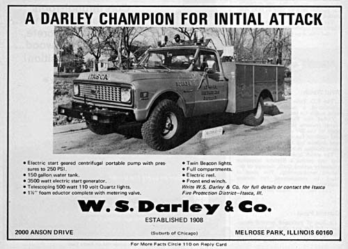 WS Darley ad from Fire Engineering magazine April 1972