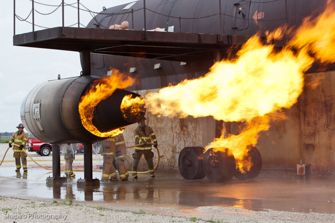 Prospect Heights firefighter training