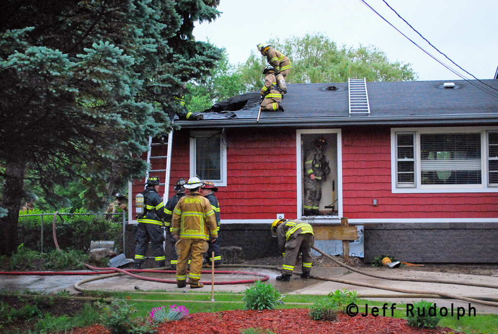 Winthrop Harbor Fire Department house fire 6-9-11 12th Street