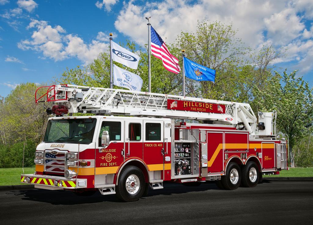 Hillside Fire Department 2011 Pierce Velocity XT 105' quint