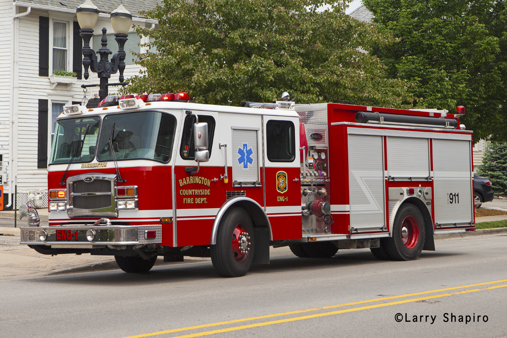 Barrington Fire Department E-ONE Typhoon engine