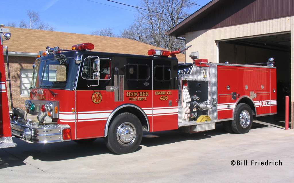 Beecher Fire Department engine