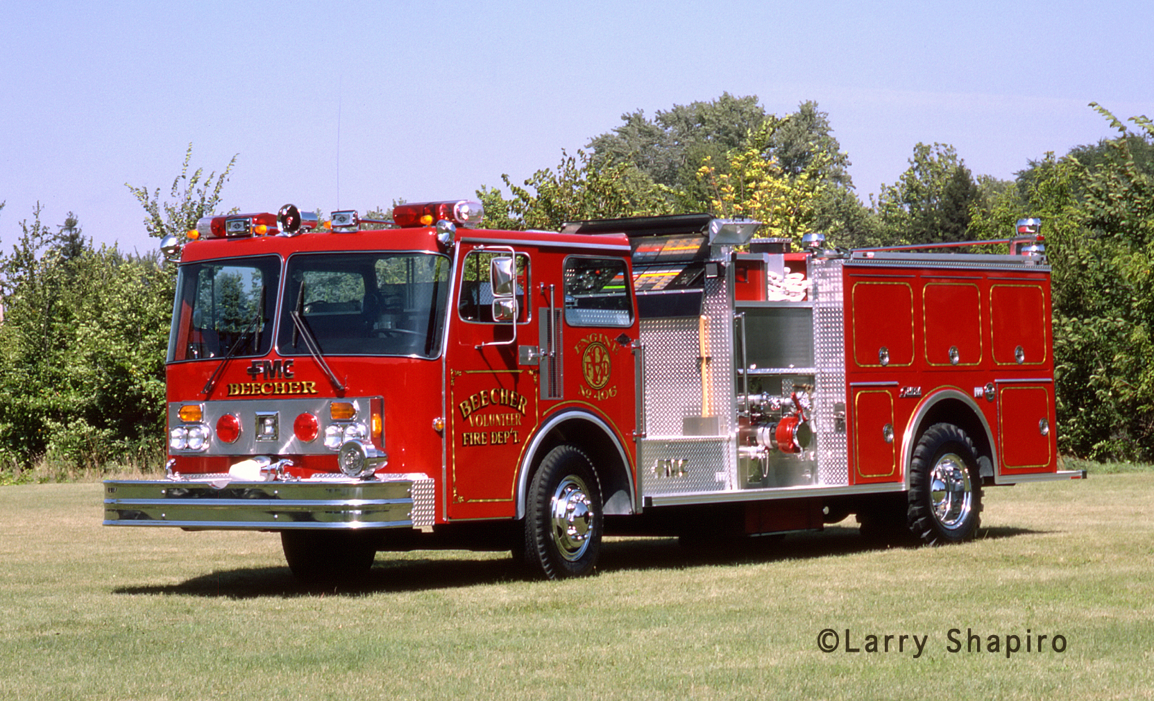 Beecher Fire Department Spartan FMC Omega pumper