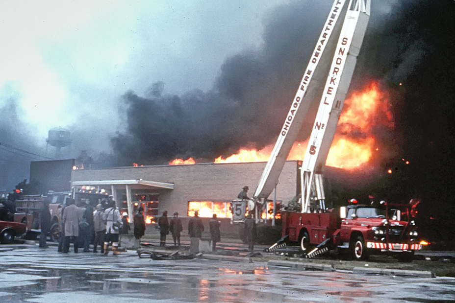 Chicago Fire Department 5-11 Alarm fire 1973