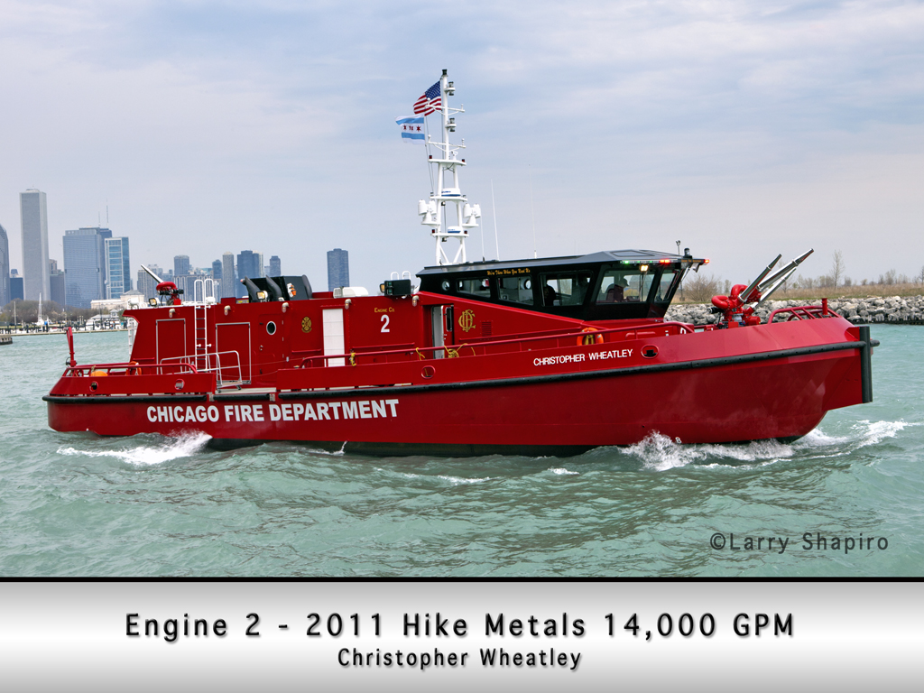 Chicago Fire Department fire boat Christopher Wheatley