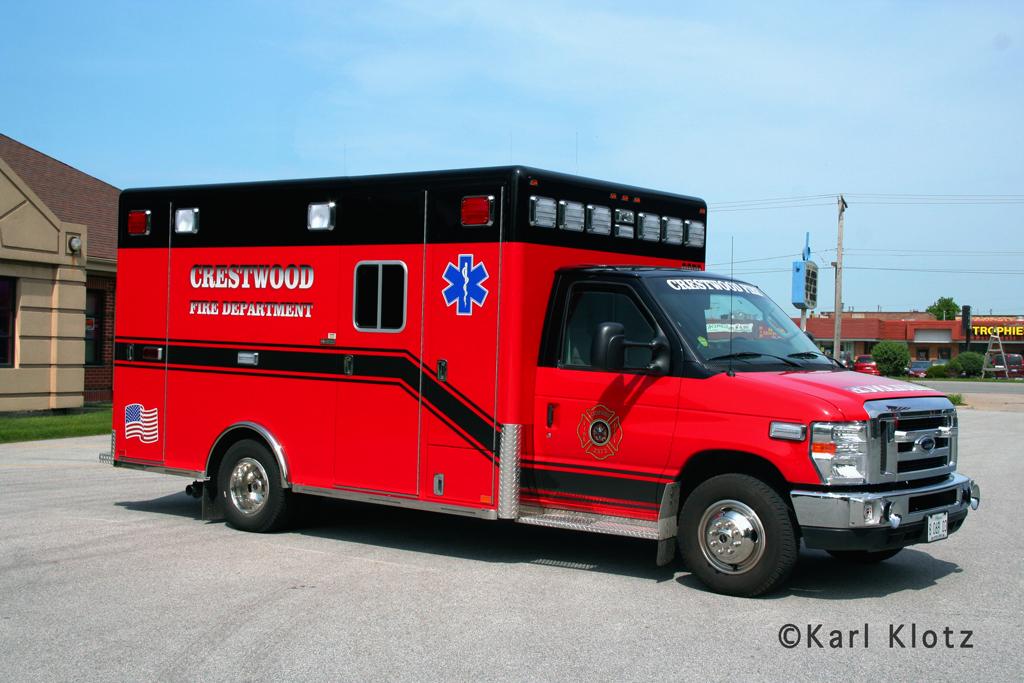 Crestwood Fire Department 2011 Ford Horton ambulance