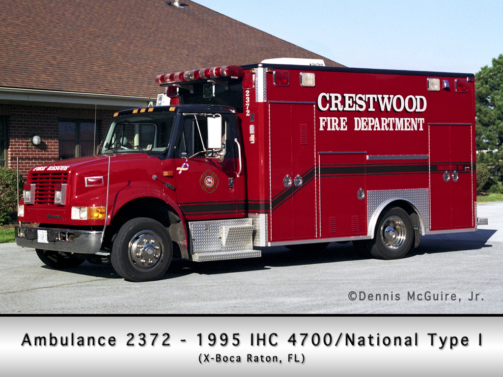 Crestwood Fire Department ambulance