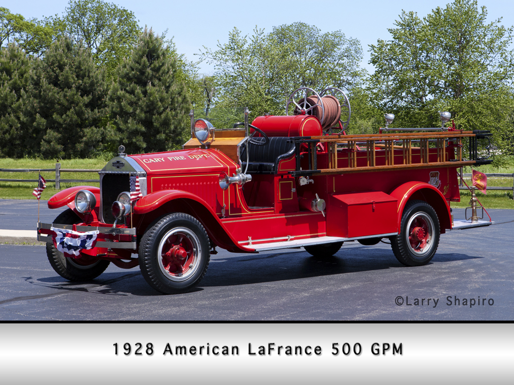 Cary Fire Protection District antique American LaFrance engine