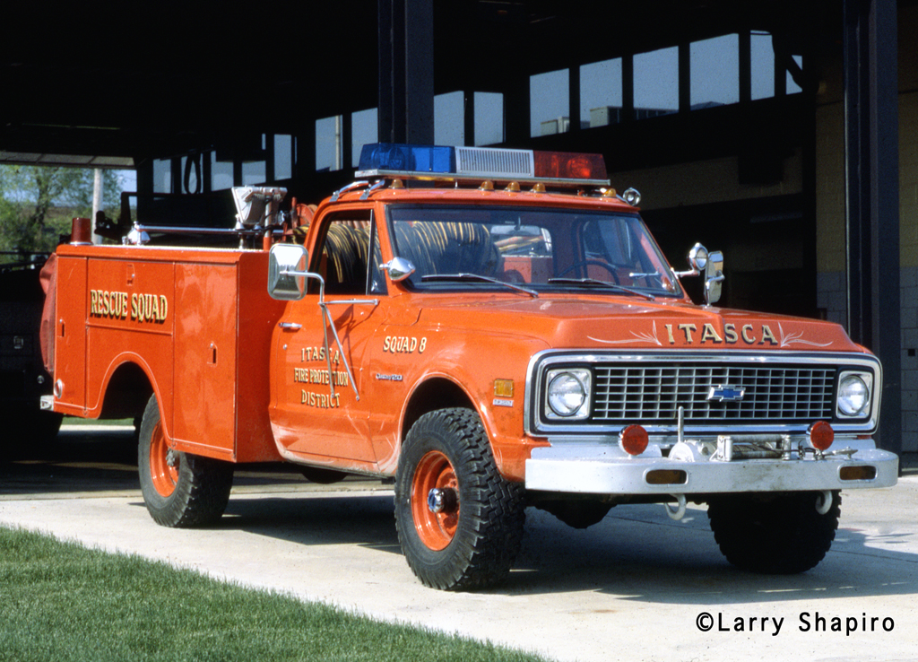 Itasca Fire Protection District 1972 Chevy Darley squad