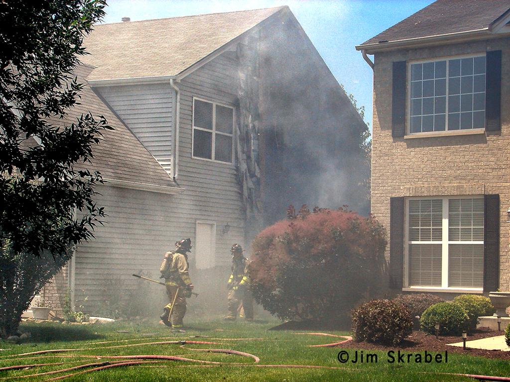 Joliet Fire Department house fire 6-28-11 Sierra Highland Court