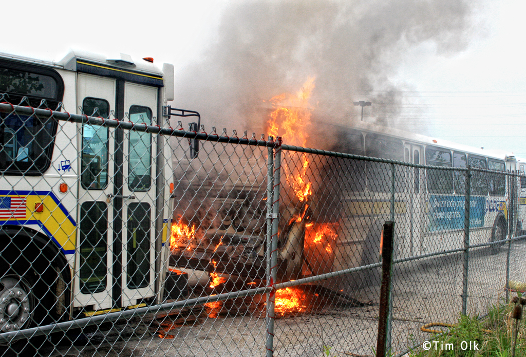 Northbrook Fire Department Pace bus fire 6-9-11