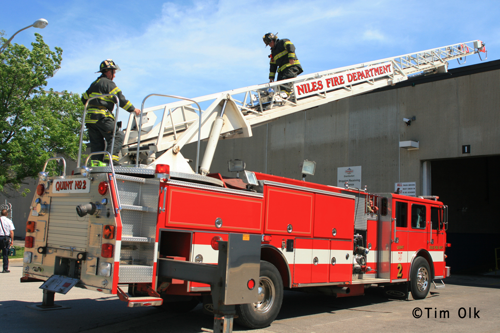 Niles Fire Department partial roof collapse 6-1-11