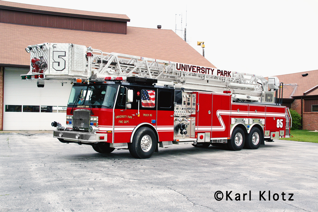 University Park Fire Department tower ladder