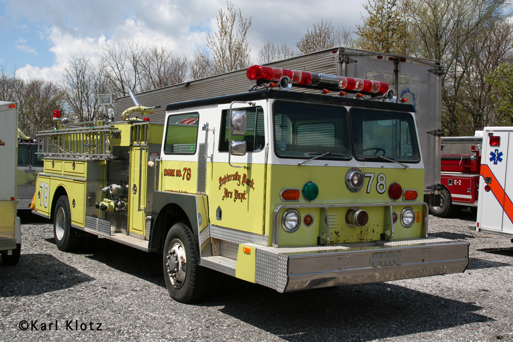 University Park Fire Department Hendrickson FMC engine