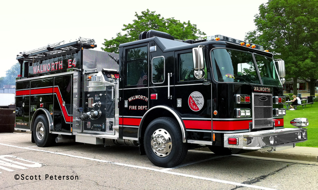 Walworth WI Fire Department 2011 Pierce Saber pumper