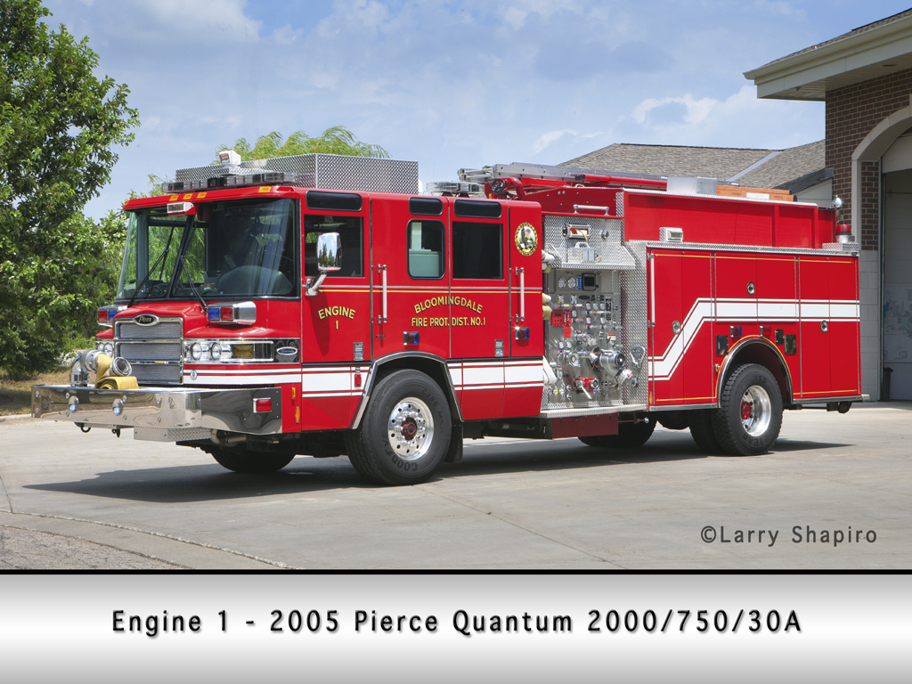 Bloomingdale Fire Protection District Pierce Quantum Engine 1