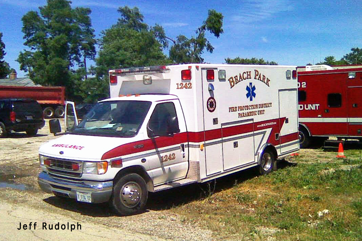 Beach Park Fire Department ambulance