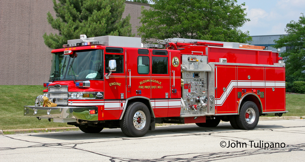 Bloomingdale Fire Protection District Engine 1 Pierce Quantum