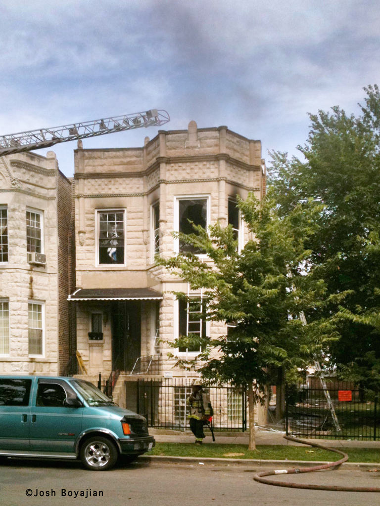 Chicago Fire Department Still & Box Alarm Fire Lawndale 7-15-11