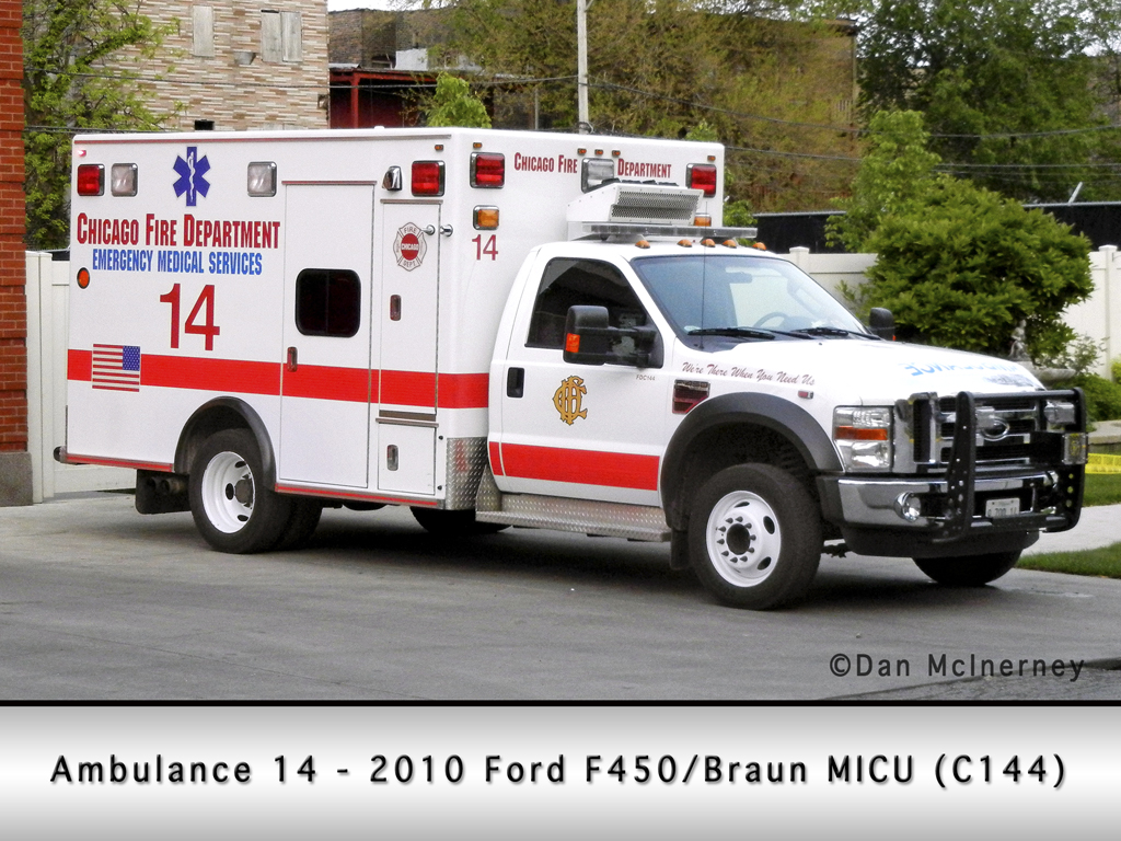 Chicago Fire Department Ambulance 14 Ford Braun