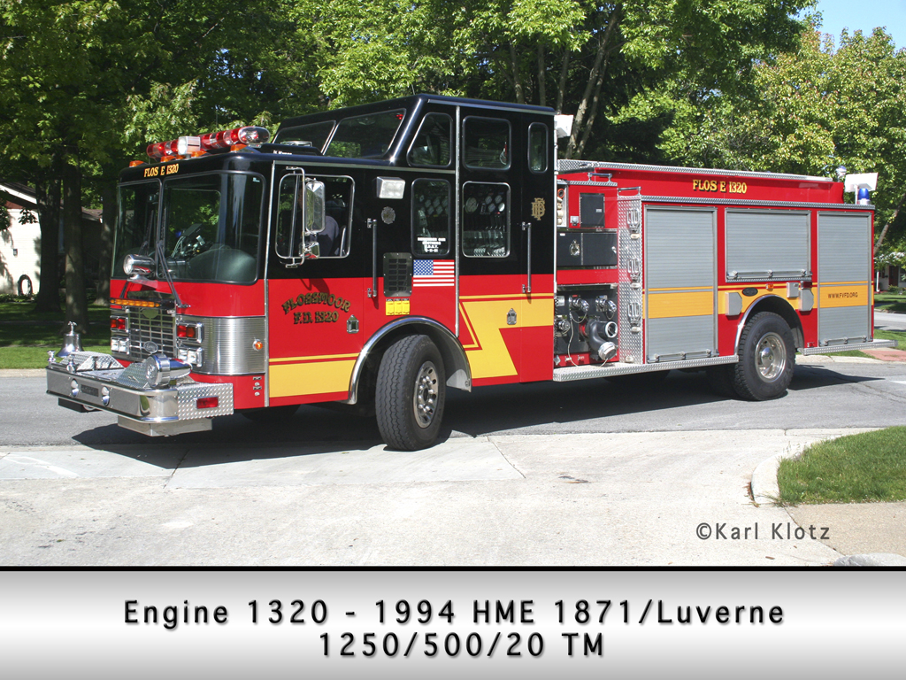 Flossmoor Fire Department Engine 1320 HME/Luverne