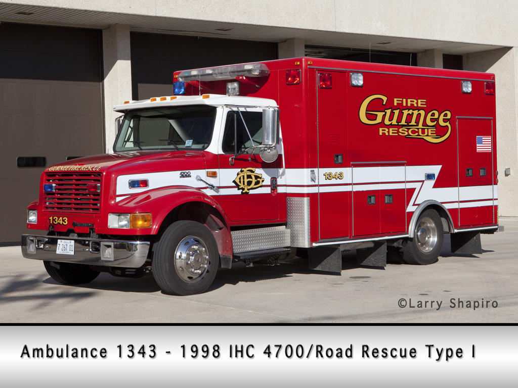 Gurnee Fire Department ambulance 1343