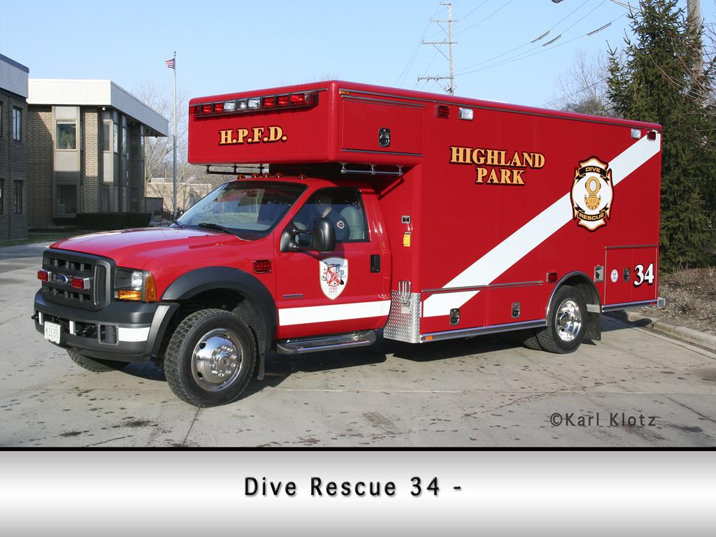 Highland Park Fire Department Dive UNit 34