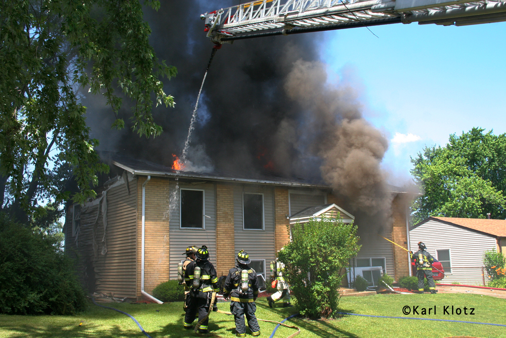 Matteson house fire on Princeton 7-4-11