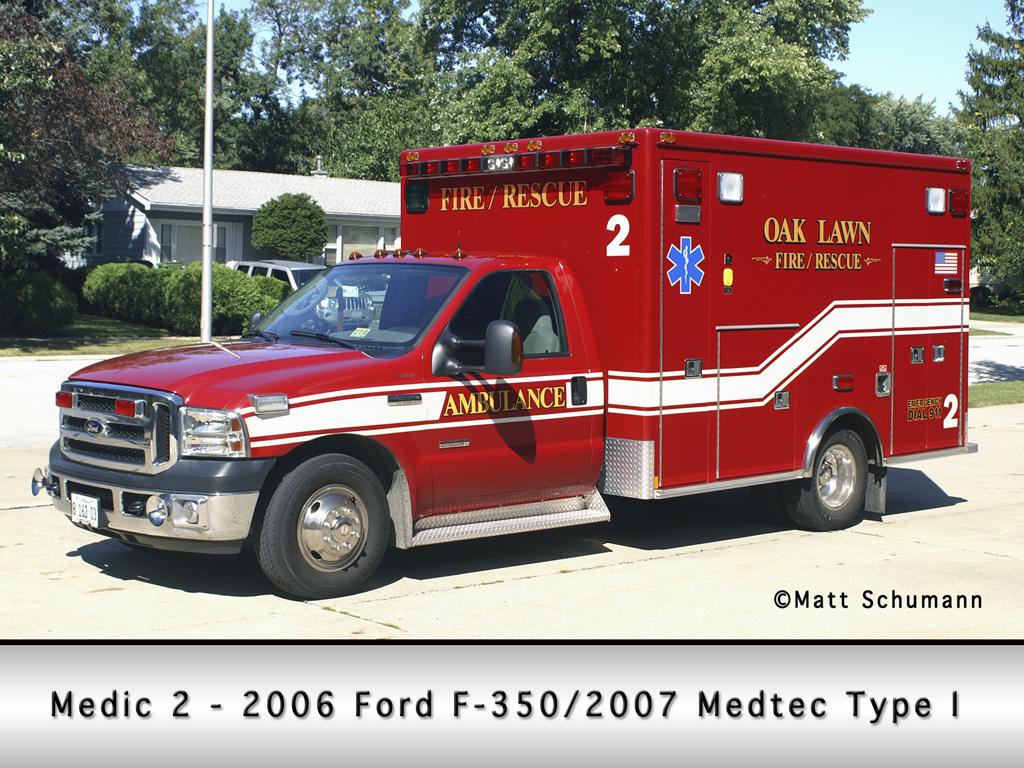 Oak Lawn Fire Department Medic 2