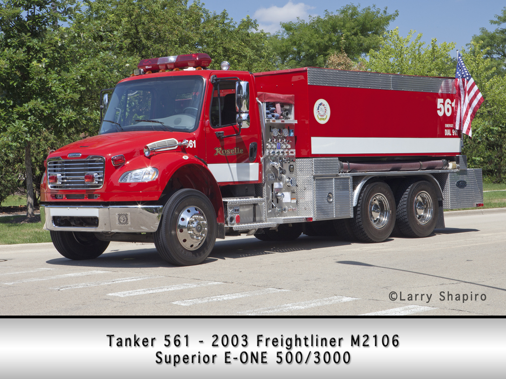 Roselle Fire Department tanker 561 E-ONE wetside