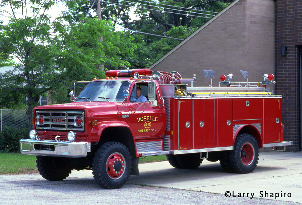 Roselle Fire Department 1980 GMC S7000 E-ONE medium duty rescue