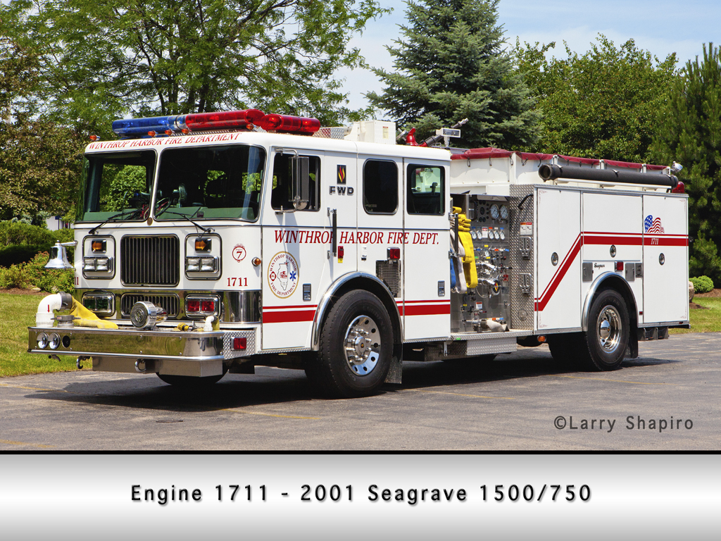 Winthrop Harbor Fire Department Seagrave Engine