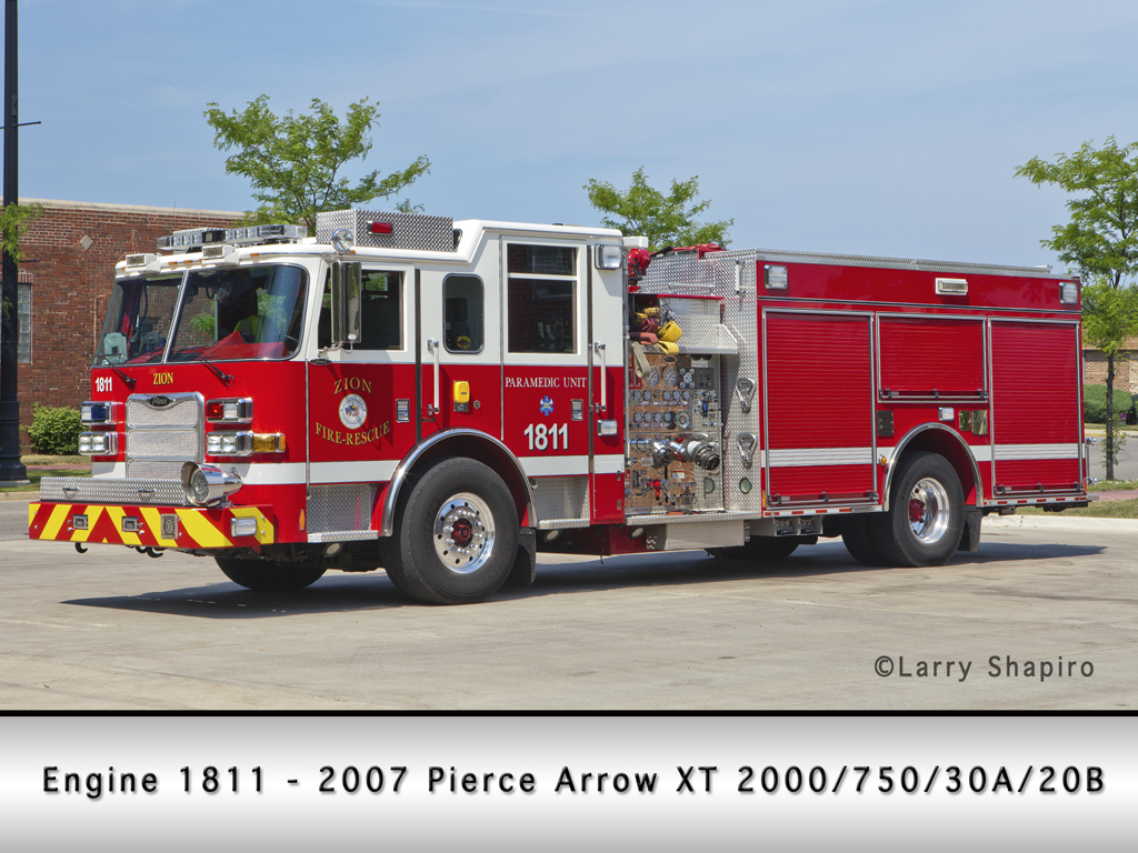 Zion Fire Department Pierce Arrow XT Engine 181