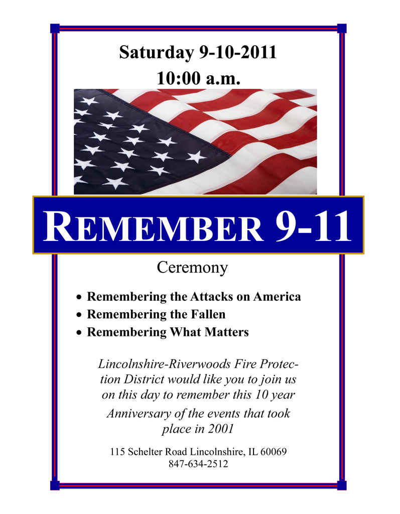 Lincolnshire Riverwoods 9/11 remembrance