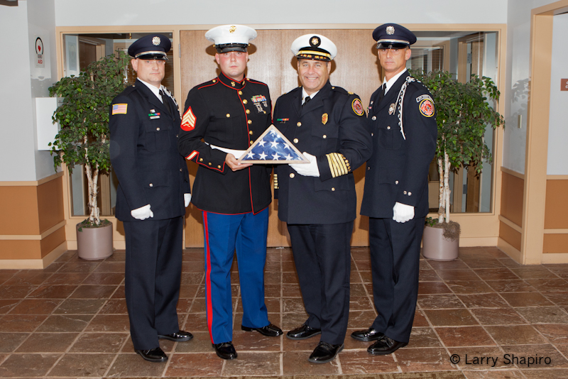 Buffalo Grove Fire Department accepts flag from Afghanistan