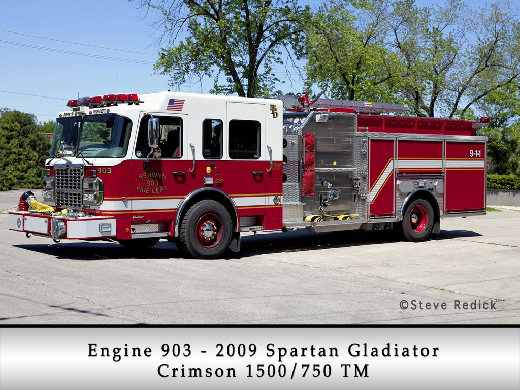 Berwyn Fire Department Engine 903 2009 Spartan Gladiator Crimson