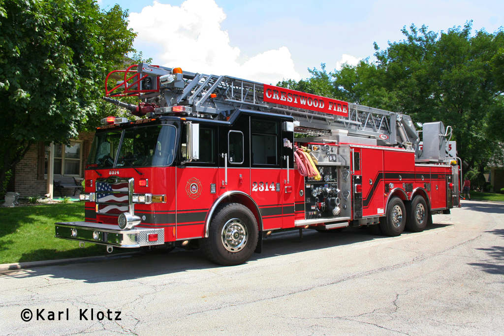 Crestwood Fire Department Pierce aerial