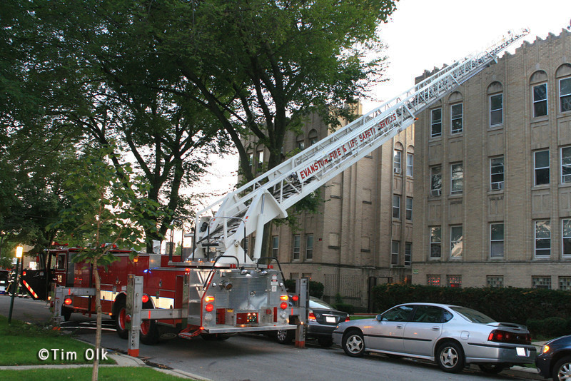 Evanston Fire Department apartment fire Callan Avenue 8-25-11