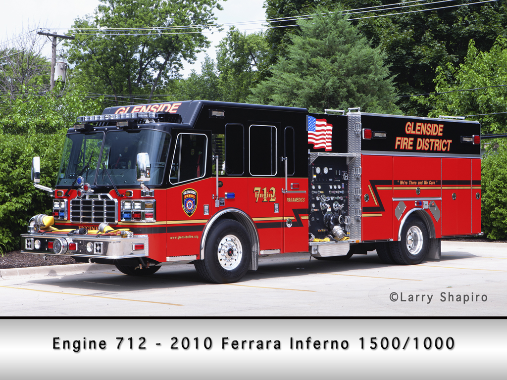 Glenside Fire Protection District Ferrara Inferno engine