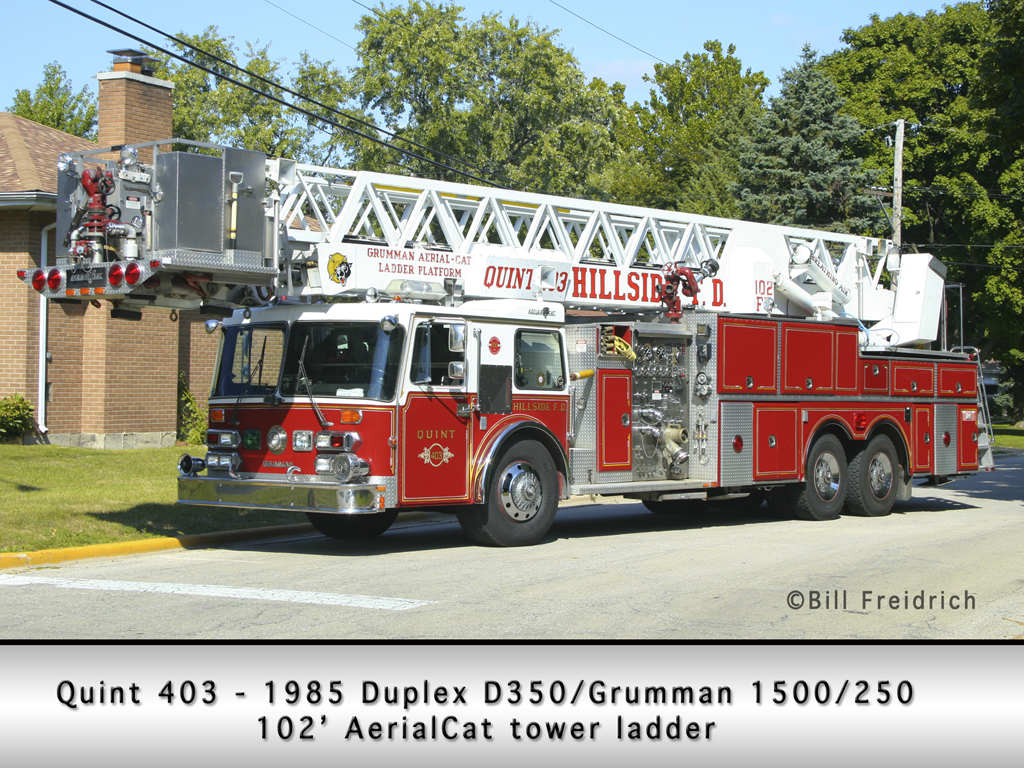 Hillside Fire Department Quint 403 1985 Duplex/Grumman AerialCat