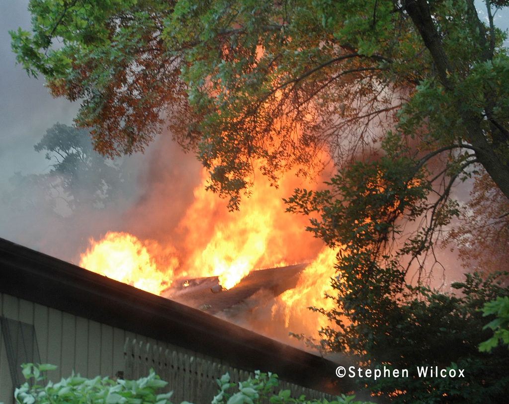 Lisle-Woodridge FPD house fire on Red Oak 7/1/11