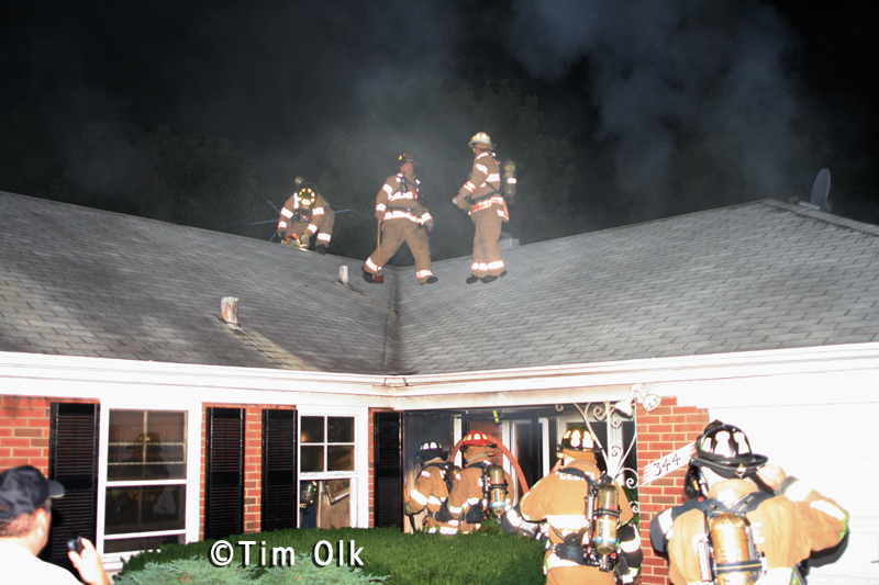 Northfield Fire Department house fire 8-28-11 Wagner Road