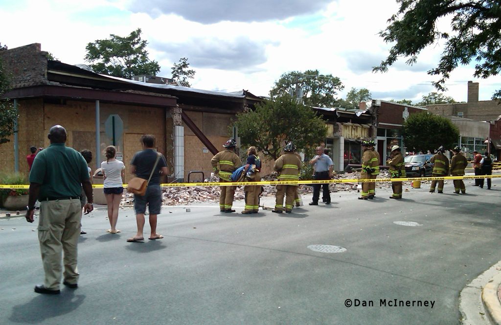 Oak Park building collapse 8-10-11 Harrison Street