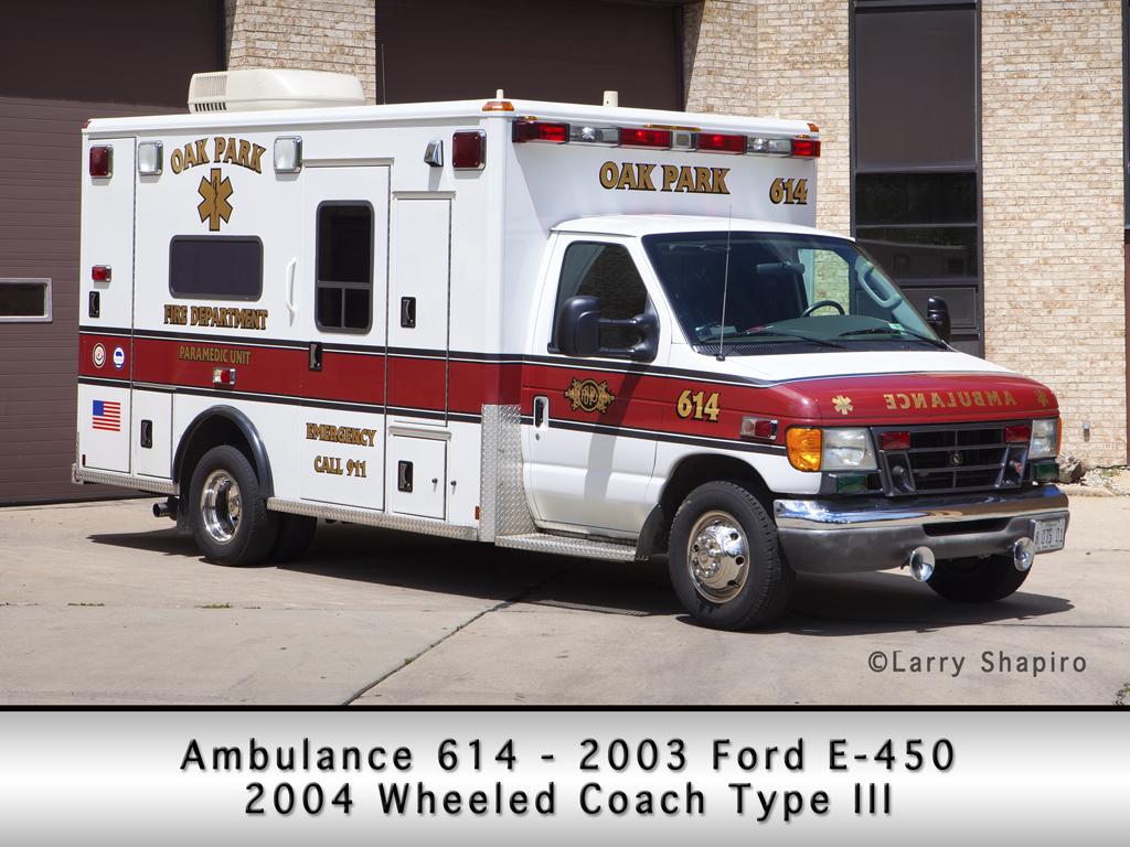 Oak Park Fire Department Ambulance 614