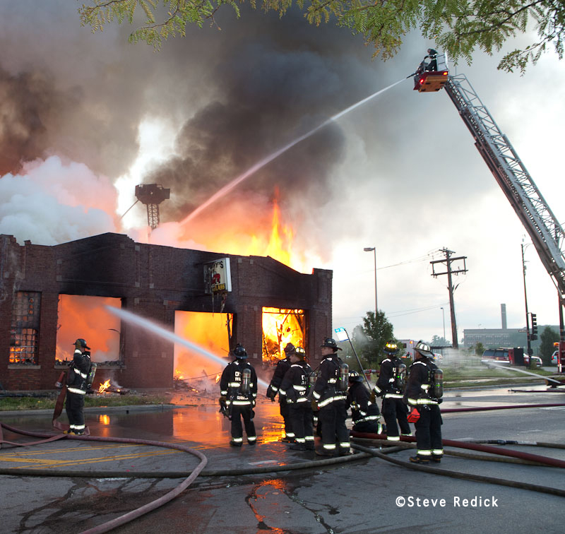 Chicago Fire Department commercial building fire 9-11-01