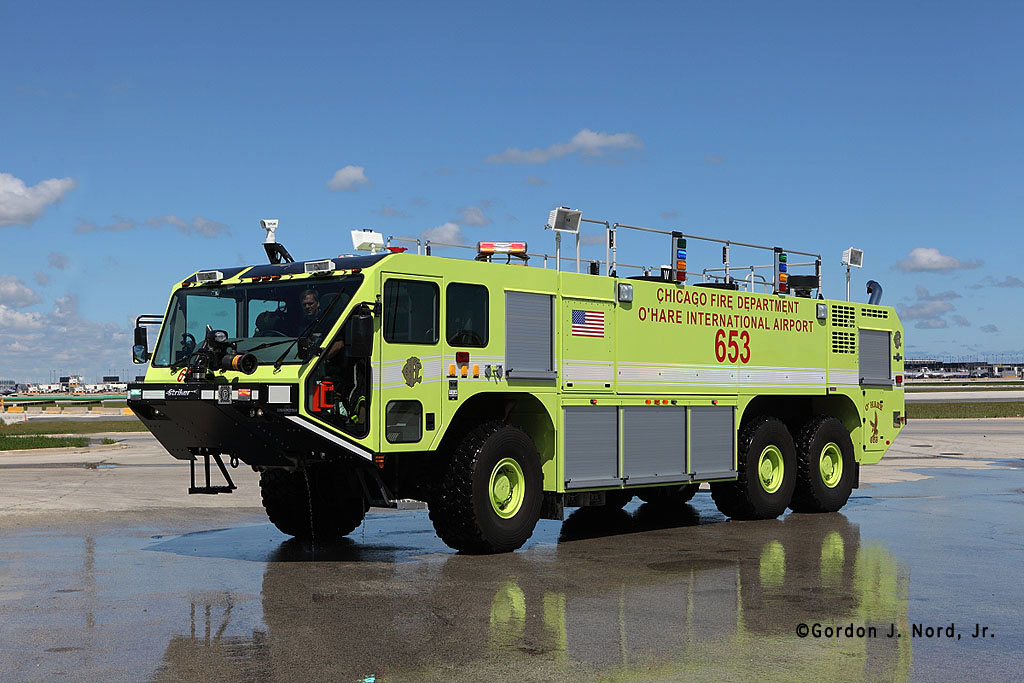 Chicago Fire Department at O'Hare Airport ARFF Oshkosh Striker